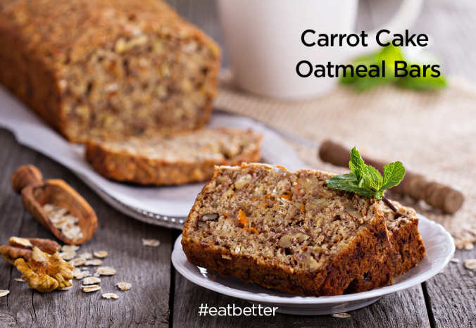 Carrot Cake Oatmeal Bars