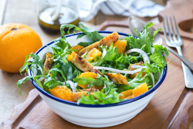 Orange and lettuce salad