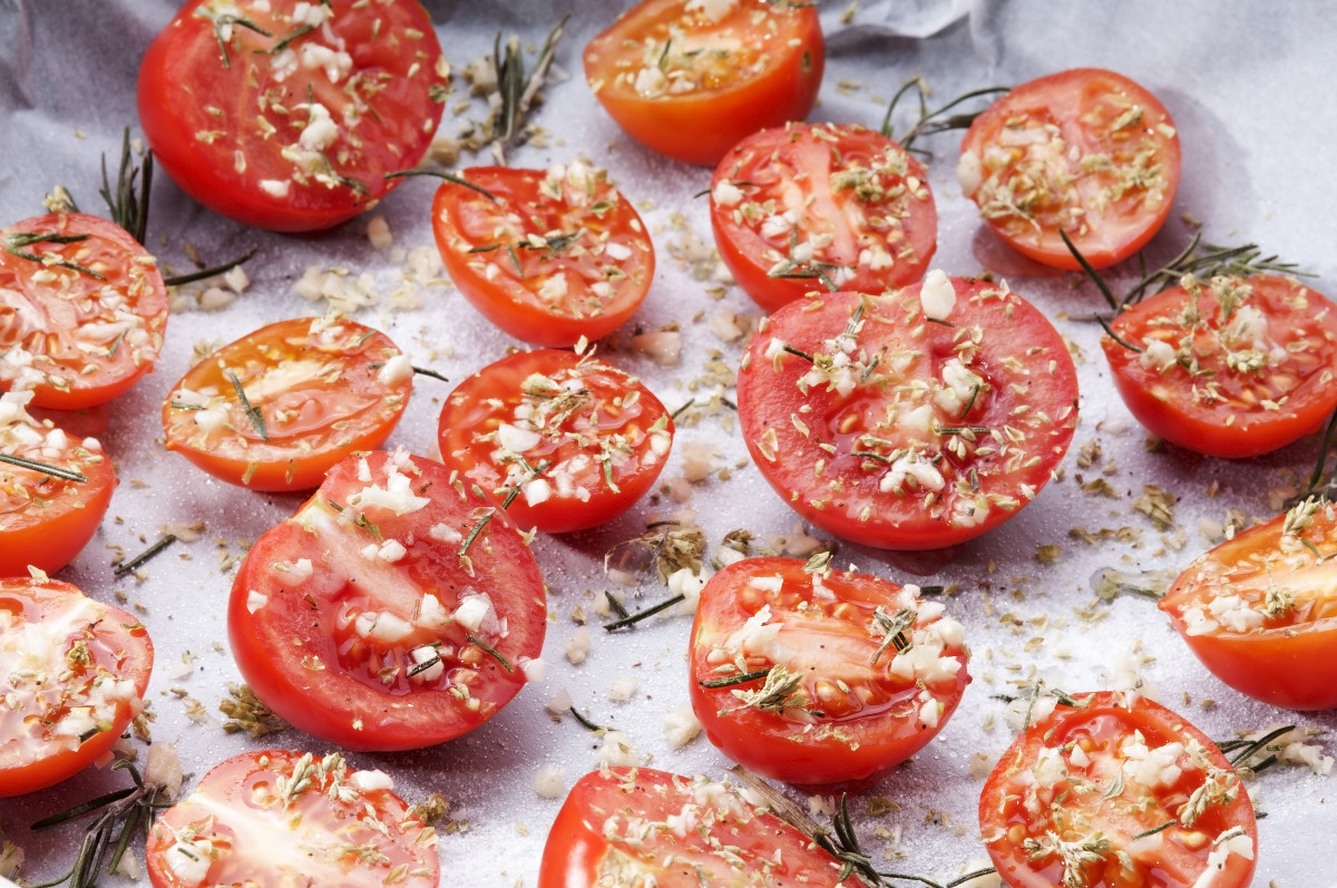 Roasted Tomato with Parmesan Cheese