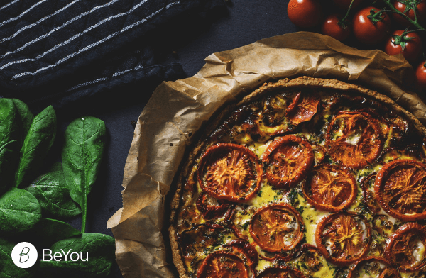Quick healthy recipe: Tomatoes and Spinach quiche